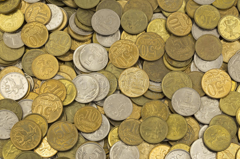 Money , change , penny, pile of cents. Background royalty free stock photo