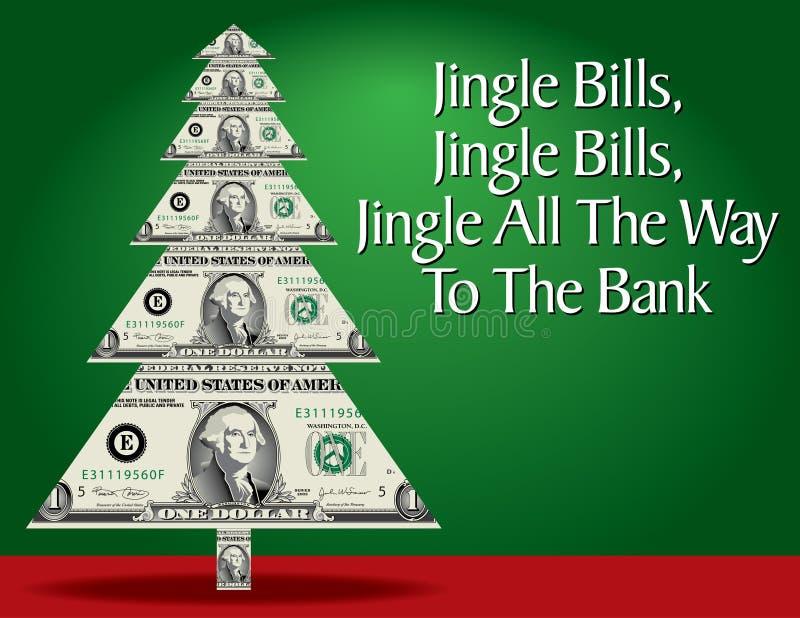 Money Christmas Tree royalty free illustration
