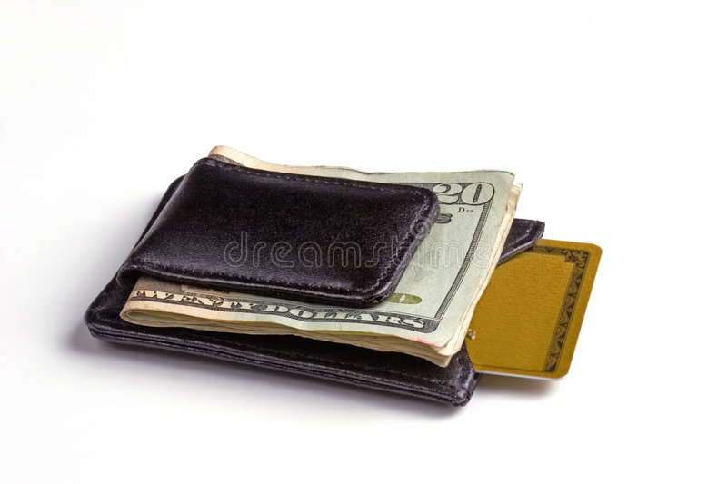 Money Clip & Credit Card stock images