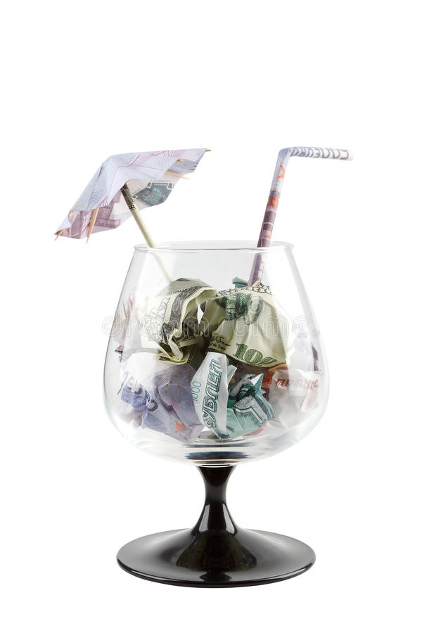 Free Money Cocktail Royalty Free Stock Image - 12480536
