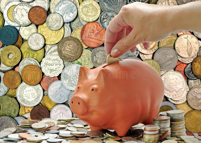 Download Background Of Money. Money Coins And Piggy Bank. Economic Concept. Financial Background Stock Image - Image: 42146721