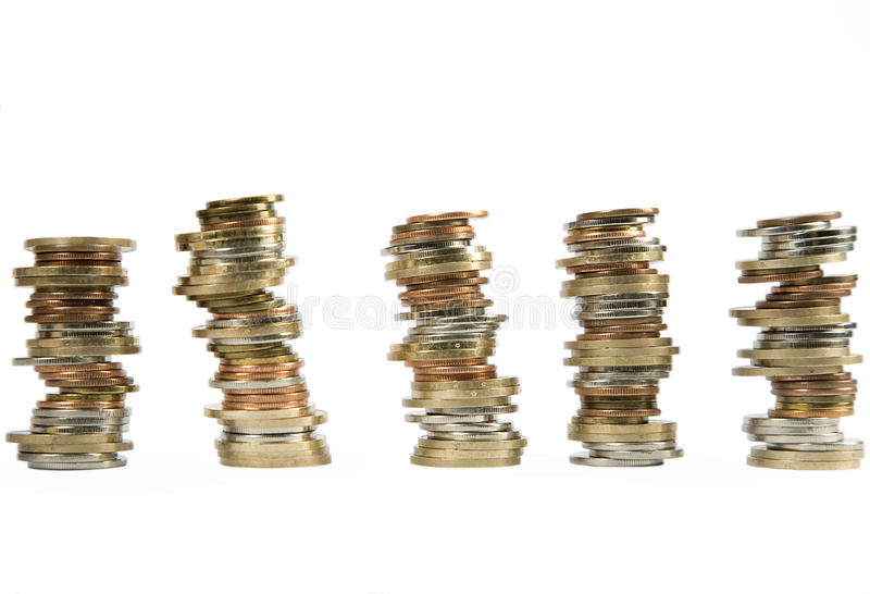 Download Money coins stacked up stock photo. Image of dollar, fortune - 17171930