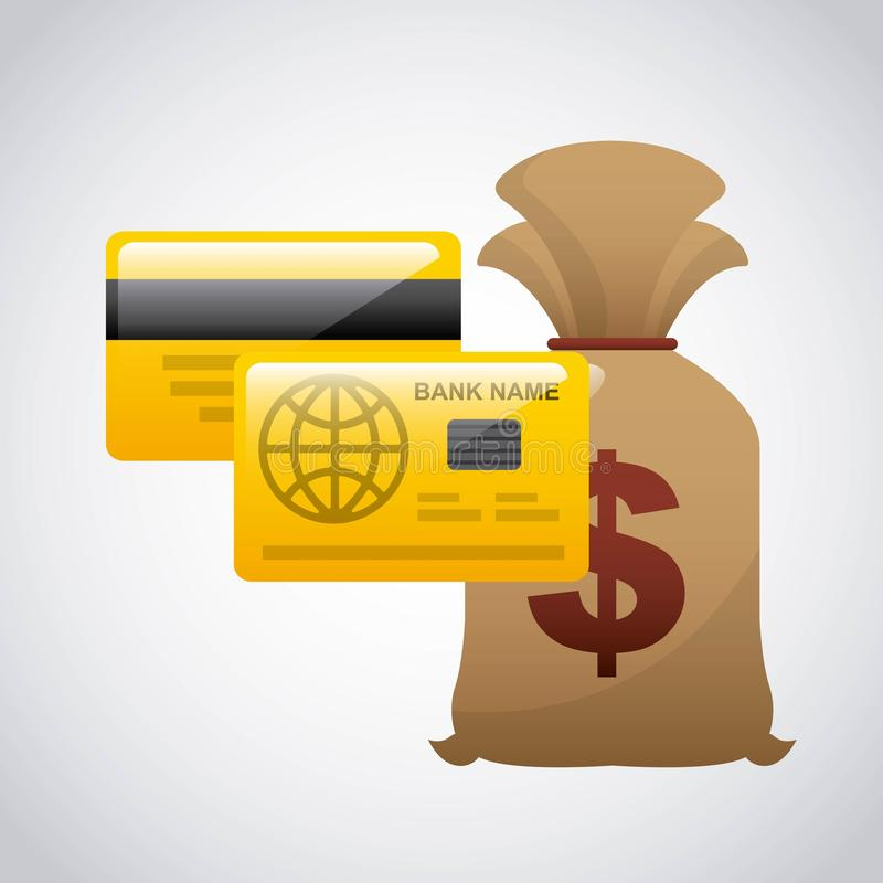 Money concept. Design, vector illustration eps10 graphic royalty free illustration