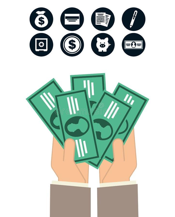 Money concept. Design, vector illustration eps10 graphic stock illustration