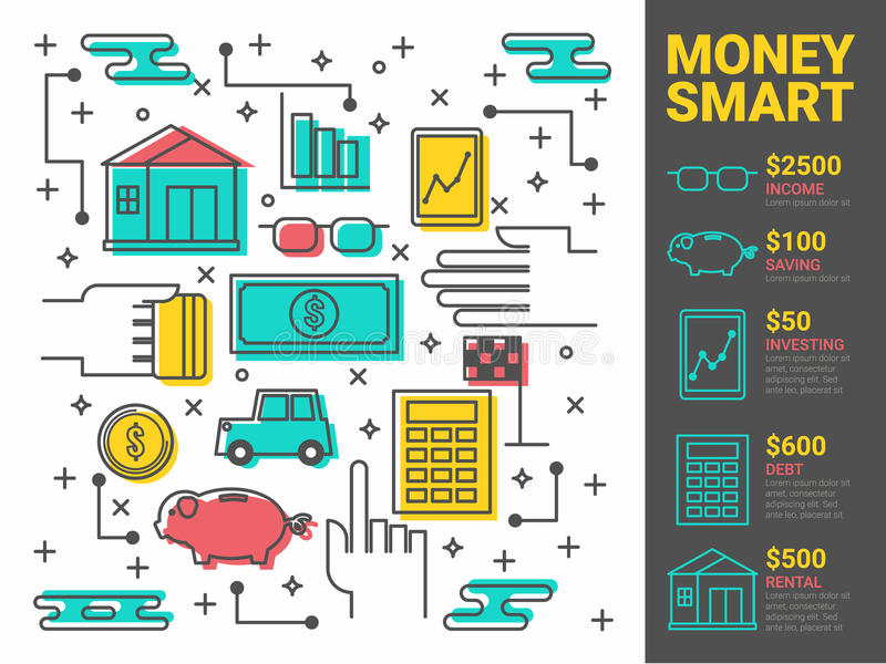 Money Concept royalty free illustration