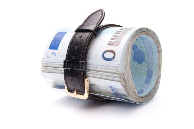 Money Concept - Tighten Belt Royalty Free Stock Photos