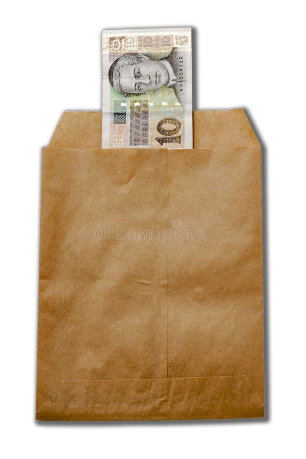Money of Croatia in paper envelop stock image