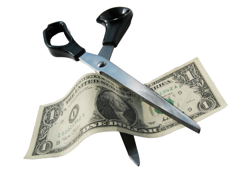 Money cut royalty free stock photo