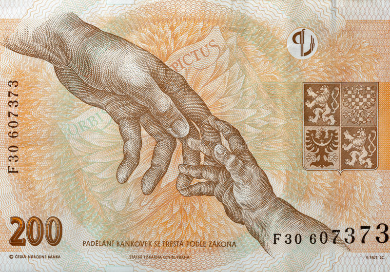 Money of Czech Republic macro royalty free stock images