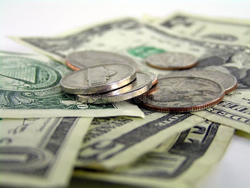 Money detail 2 stock photography