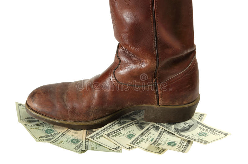 Download Money Devalued Is Trod Under Foot Stock Image - Image: 27807491