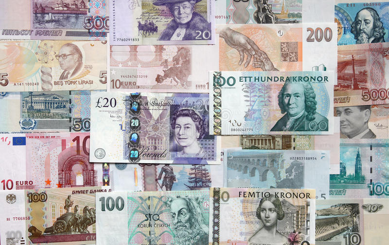 Money Of The Different Countries. Editorial Image