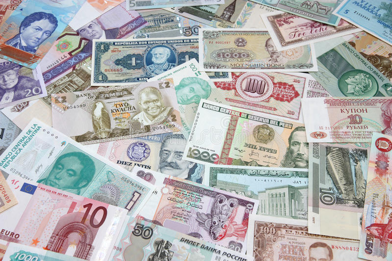 Download Money Of The Different Countries. Stock Image - Image: 28331537