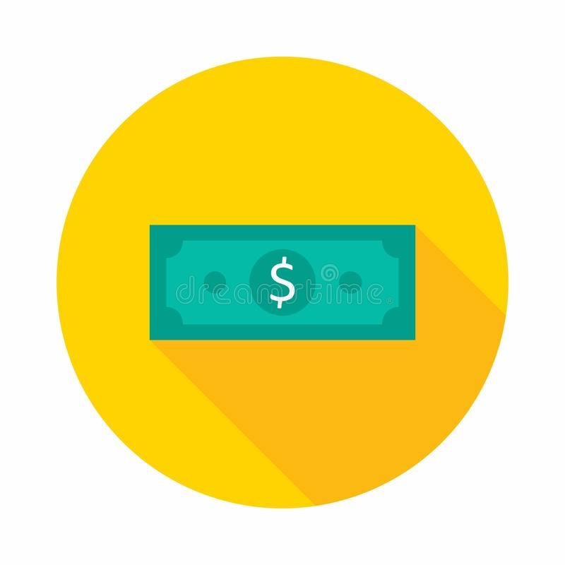 Money, Dollar, No background, Vector, Flat icon stock illustration