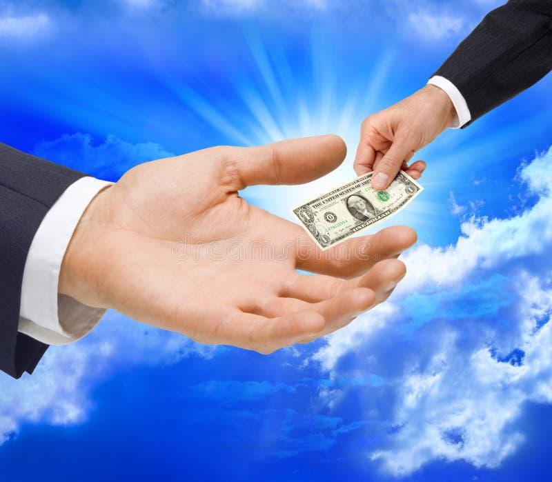 Money Dollar Gift Hand Taxes stock image
