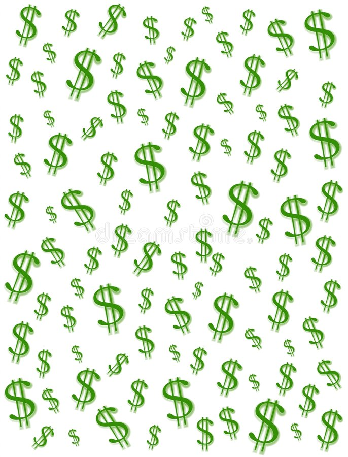 Free Money Dollar Signs Background Royalty Free Stock Photography - 2158577