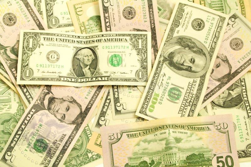 Money, dollars closeup royalty free stock image