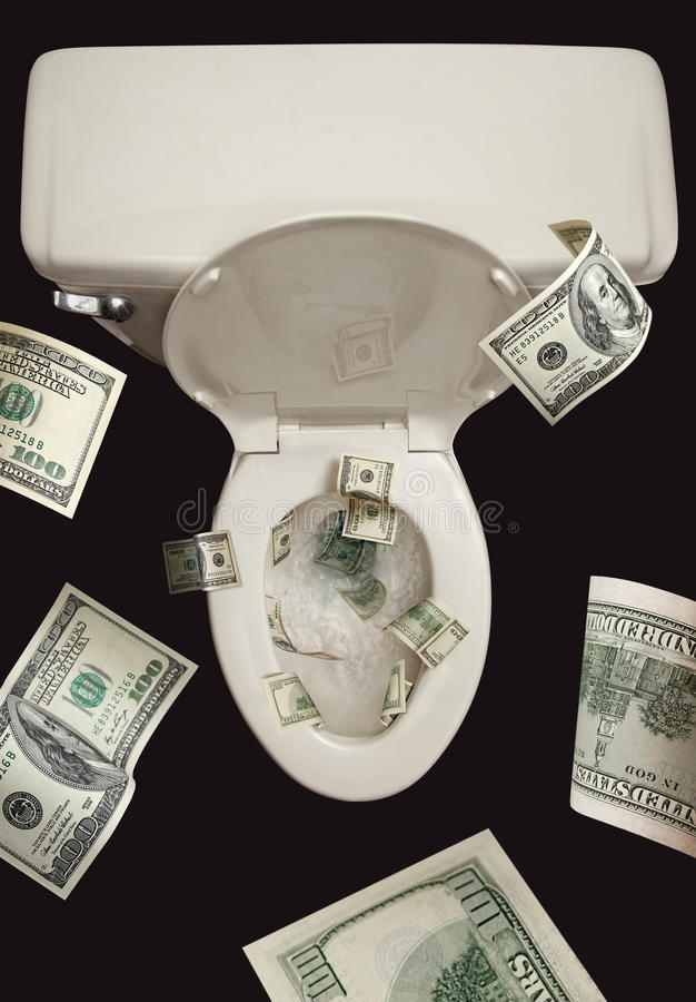 Download Money Down the Toilet stock illustration. Image of throw - 22303863