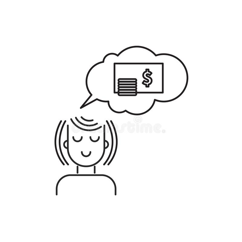 Money dream icon stock illustration