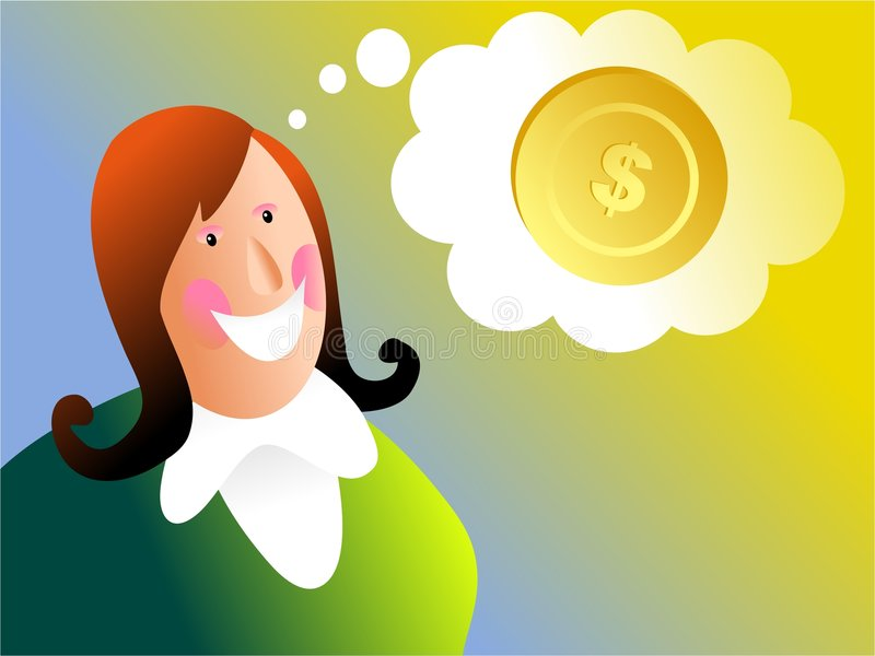 Money dreams stock illustration