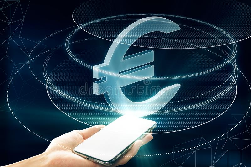 Money and e-commerce concept royalty free stock photo