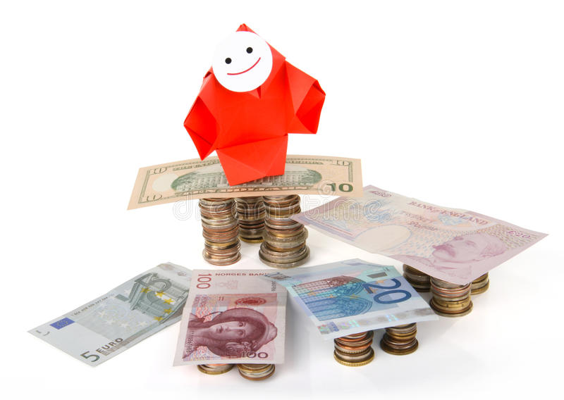 Money, earnings, and economy metaphor royalty free stock photography