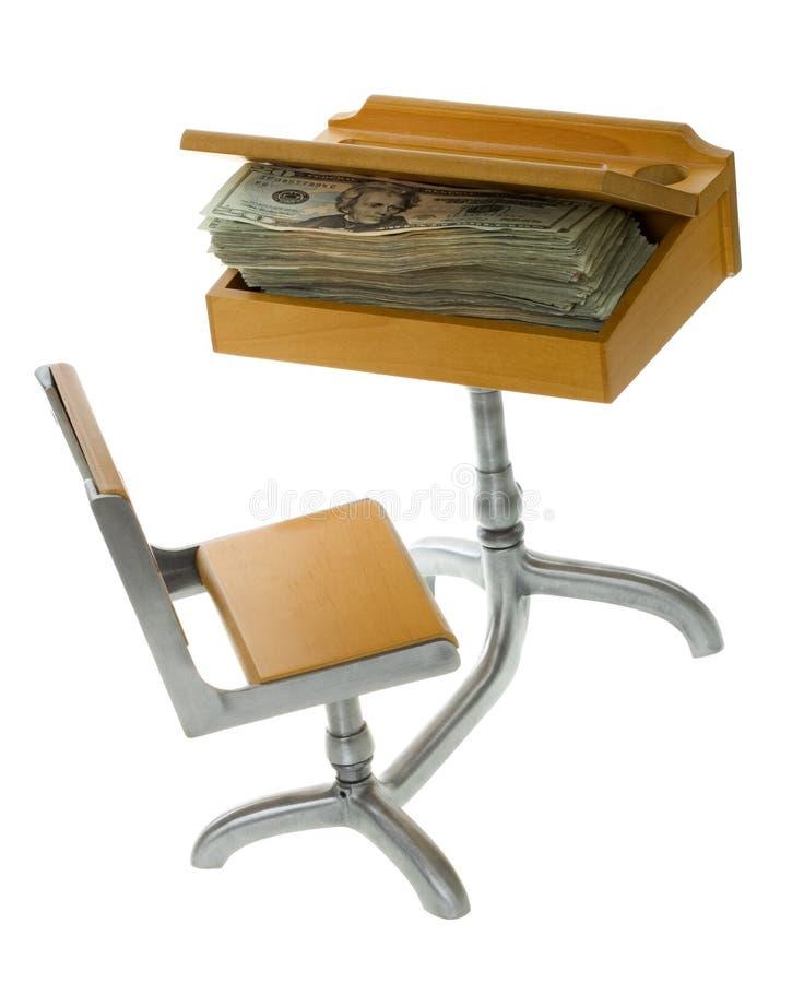 Money for Education inside Desk royalty free stock images