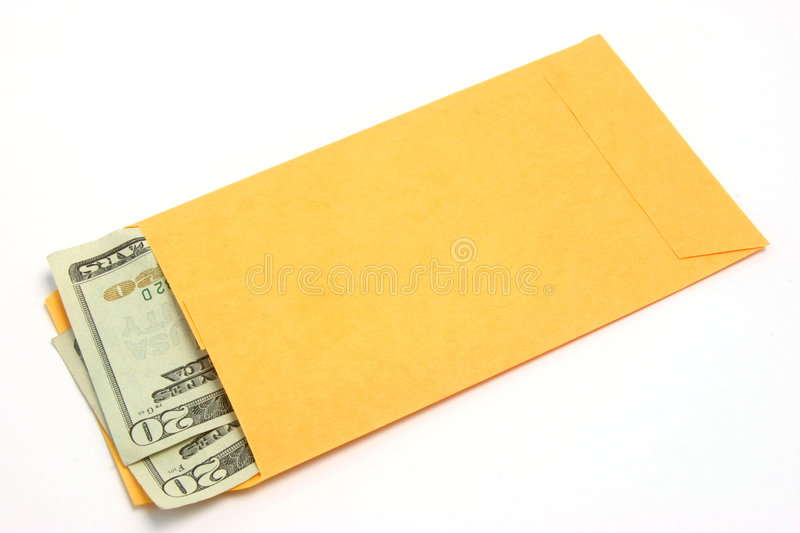 Money in envelope 01 royalty free stock image