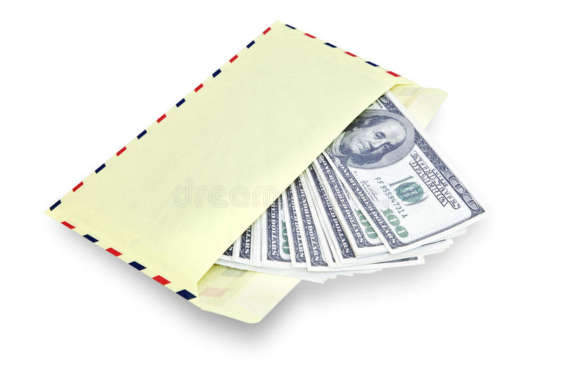Money in envelope royalty free stock photo