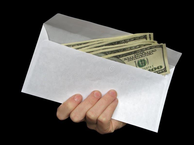 Money in envelope royalty free stock image