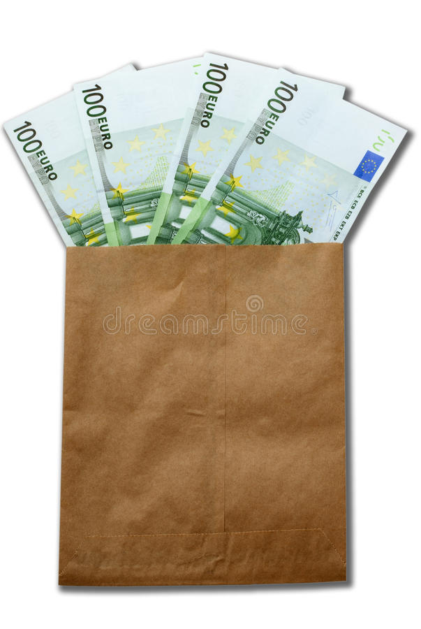 Money of Europe in paper envelop stock photo