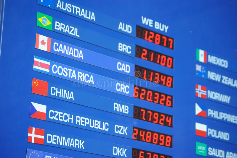 Money Exchange Rate stock photos
