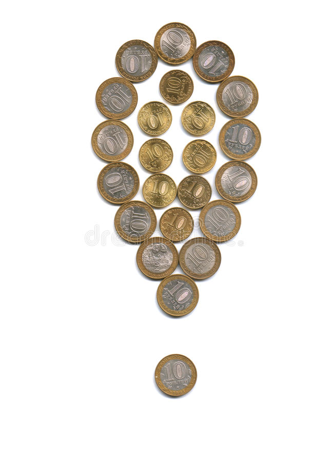 Money Exclamation mark stock photos