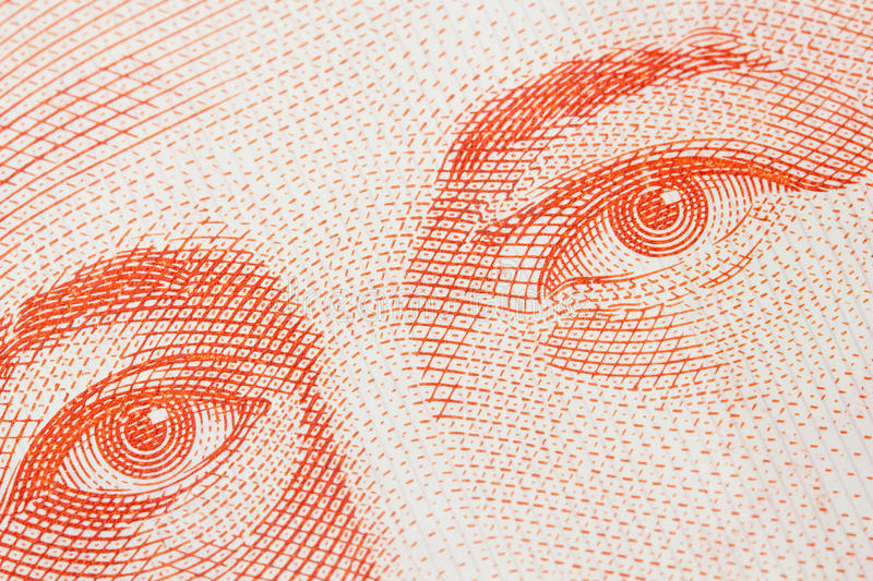 Money Eyes royalty free stock photography