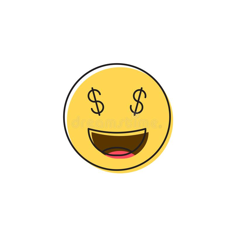 Free Money Face Smiley Vector Icon Symbol Emoticon Isolated On White Background Stock Photography - 165746832