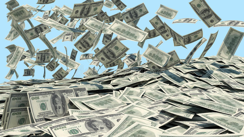 Download Money Falling From The Sky In A Heap Stock Image - Image: 26147941
