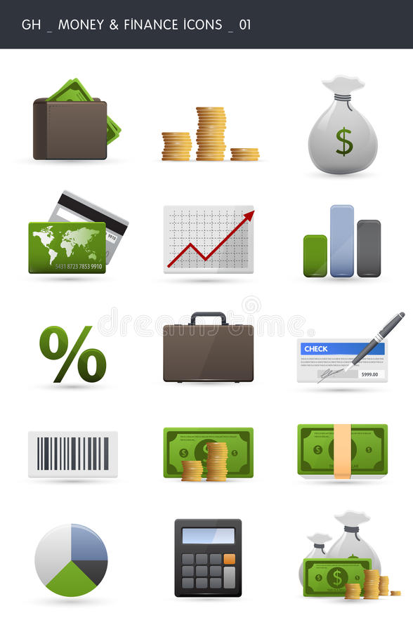 Download Money And Finance Icons _01 Royalty Free Stock Image - Image: 16404156