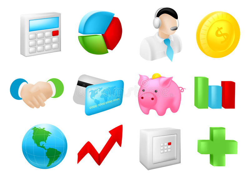 Download Money and Finance Icons stock vector. Illustration of design - 29243397