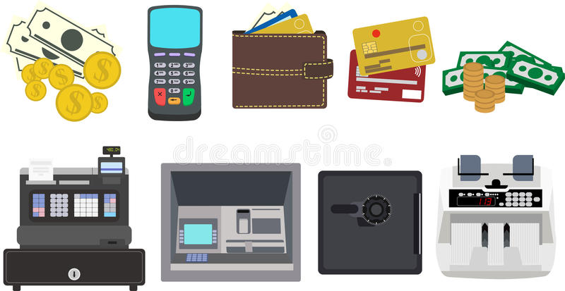 Money and Finance Icons vector illustration