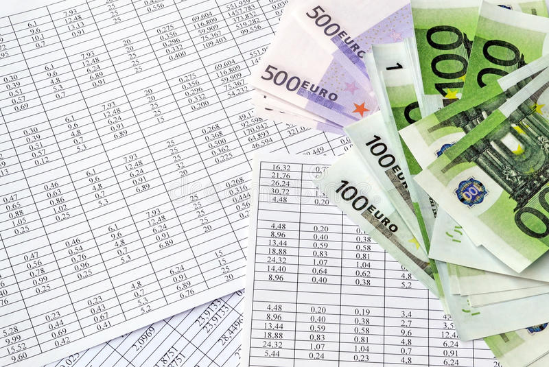 Money and financial documents royalty free stock image