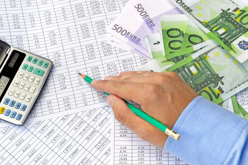 Money and financial documents royalty free stock photography