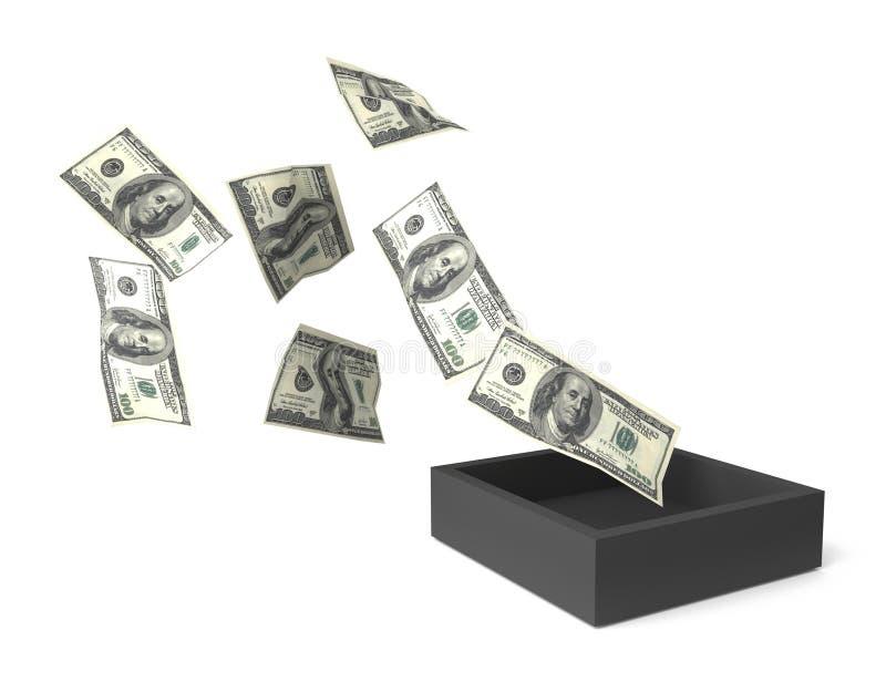 Download Money Flow stock illustration. Image of dark, investment - 11571635