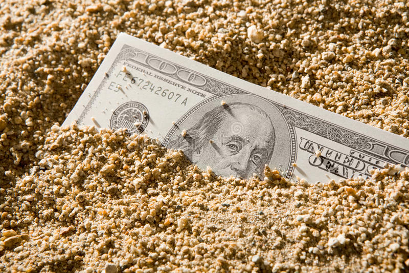 Money Flow As Sand Royalty Free Stock Photography