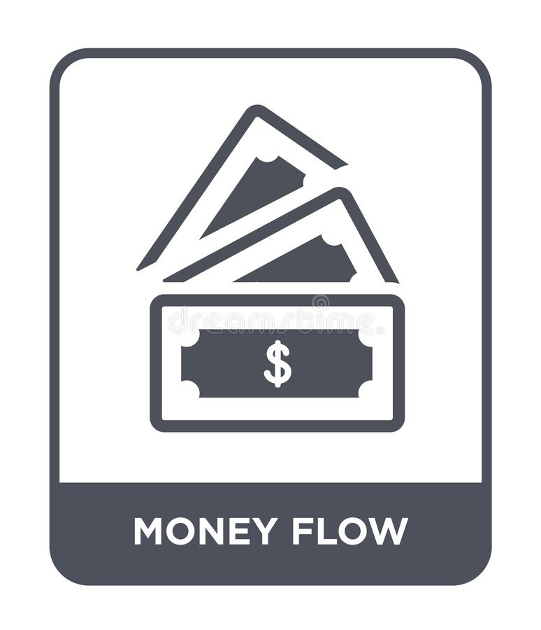 Money flow icon in trendy design style. money flow icon isolated on white background. money flow vector icon simple and modern. Flat symbol for web site, mobile stock illustration