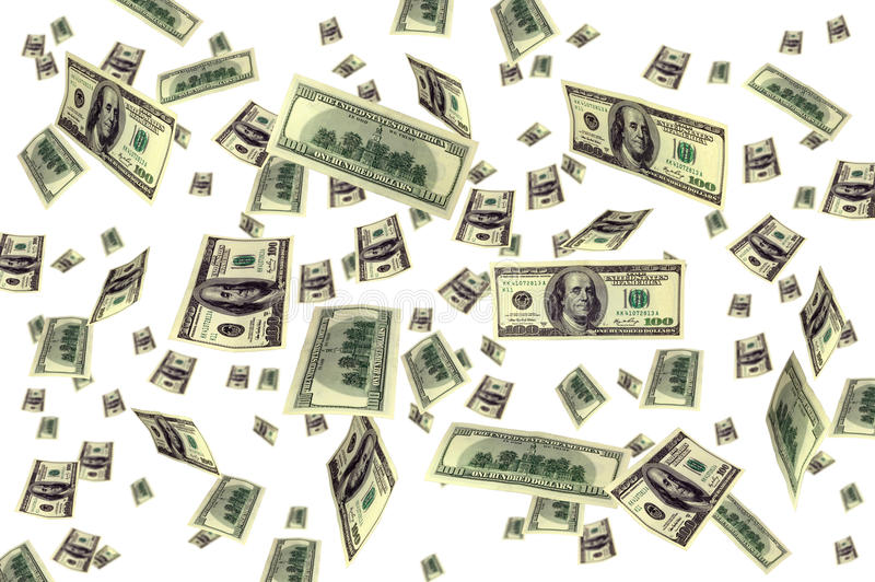 Money flying background royalty free stock images