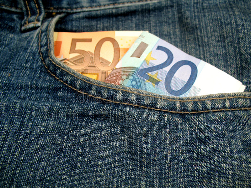 Download Money in front pocket stock photo. Image of safe, cash - 6462972