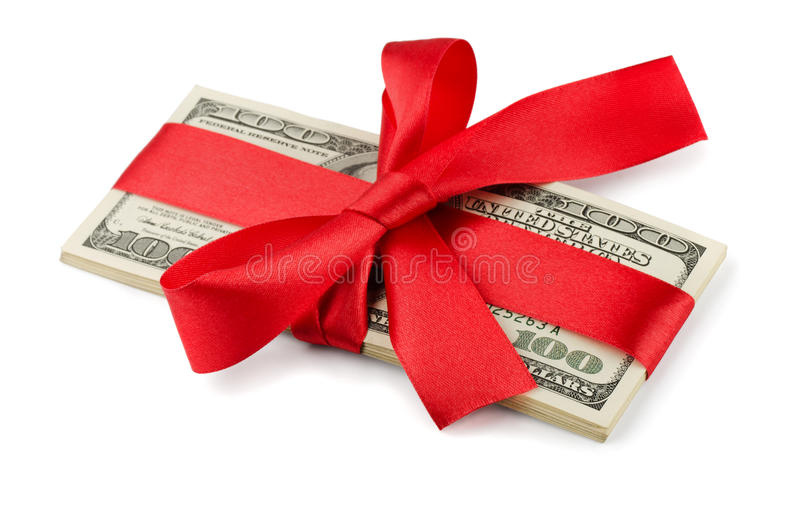 Money gift stock photos