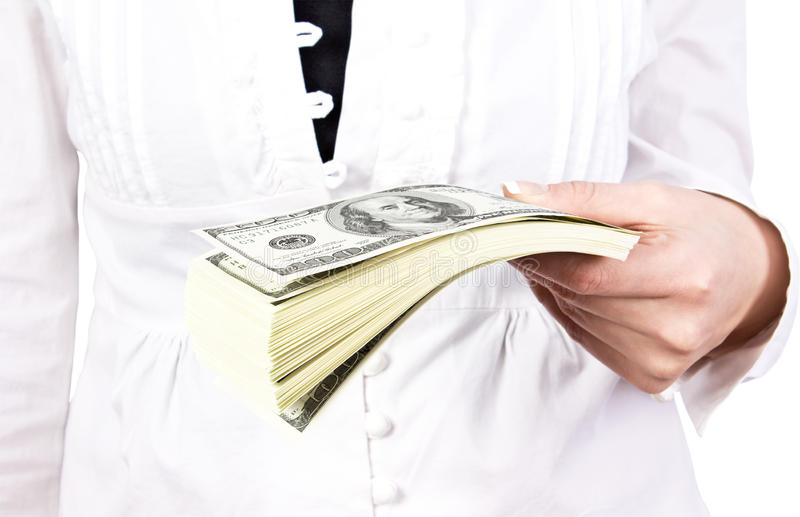 Download Money In A Giving Hand Royalty Free Stock Photo - Image: 17748915
