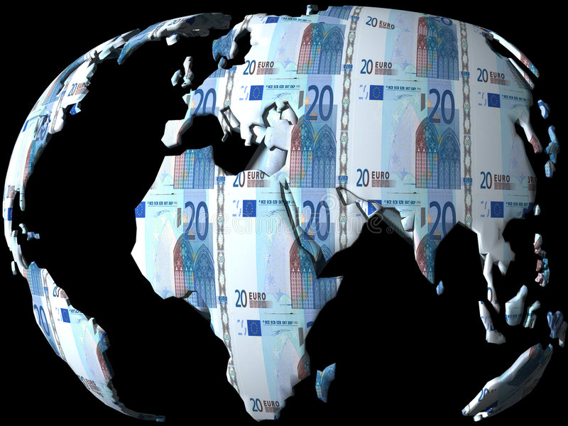 Money globe stock illustration
