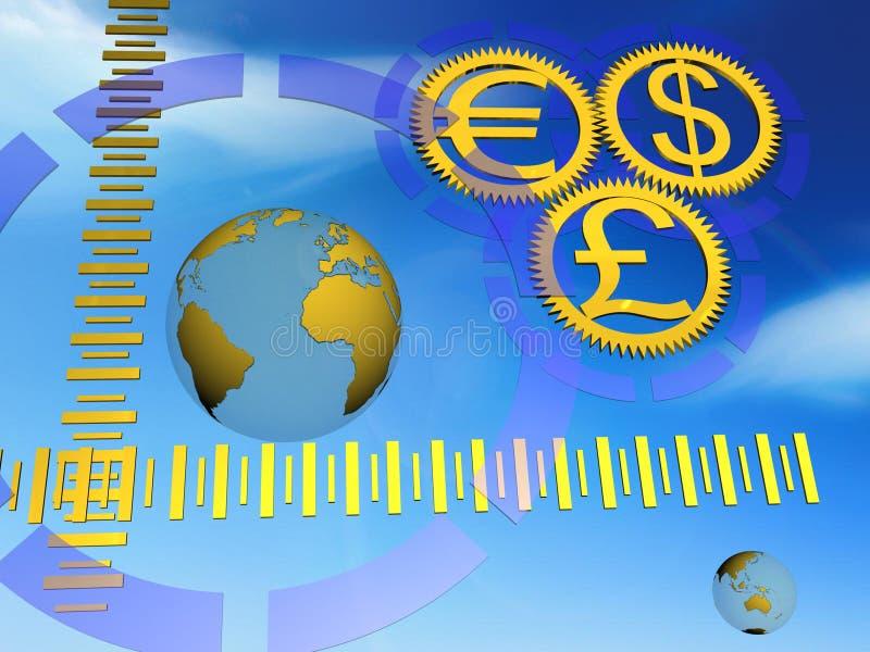 Download Money an globe stock illustration. Illustration of concept - 3912986